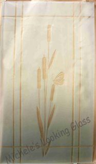 Etched bullrushes for a front door