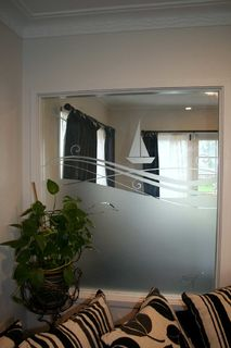 Etched room divider