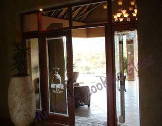 Health Spa: entry doors etched