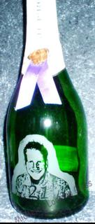 Engraved 21st champagne bottle