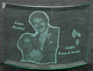 Etched photo for mother of groom