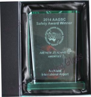 Engraved Glass Award in a gift box