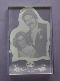 Etched wedding photo