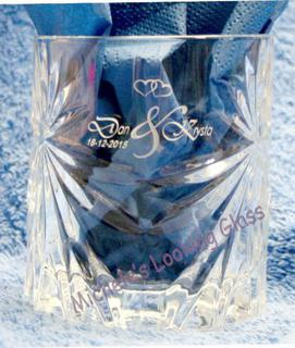 Etched wedding tumblers
