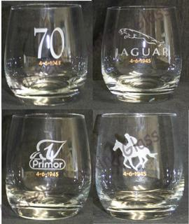 Etched 70th birthday tumblers