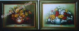 Two hand finished frames on each painting