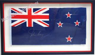 Flag signed by John Key