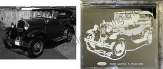 Ford Model A Etched