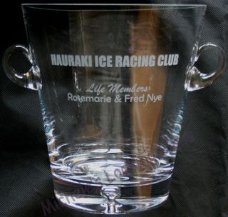 Etched ice bucket