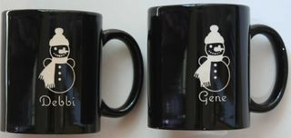 Etched Christmas Coffee Mugs