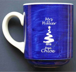 Engraved Xmas coffee mug