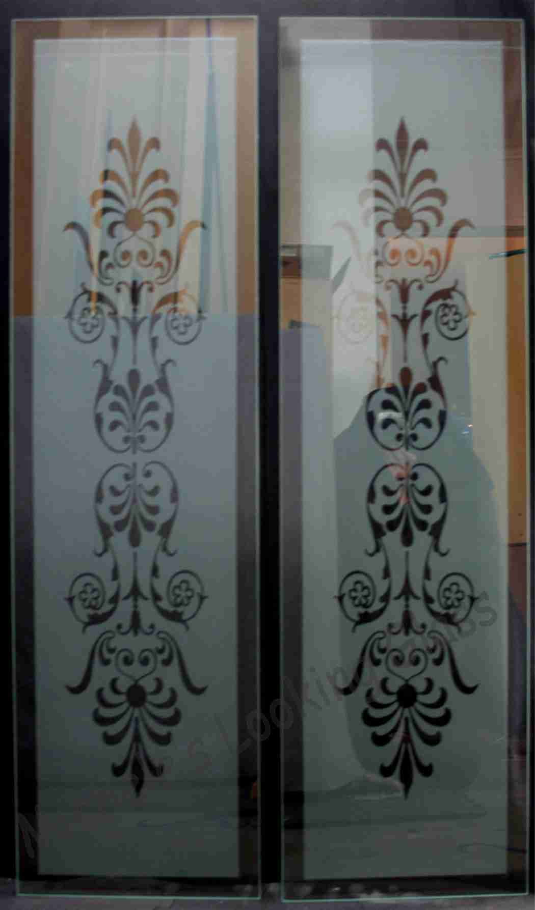 Etched panes for a front door