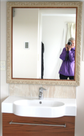 Framed mirror bathroom