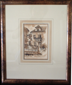 Framed original artwork