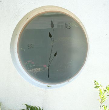 Sandblasted window
