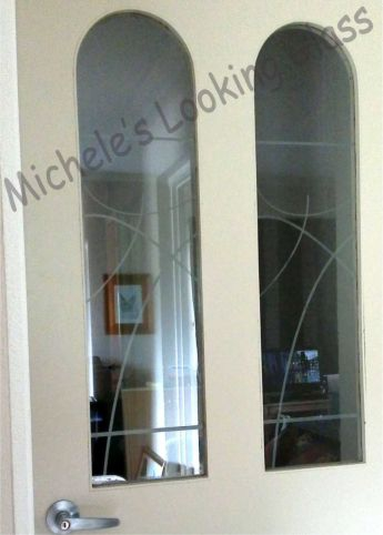 Glass Etched Door