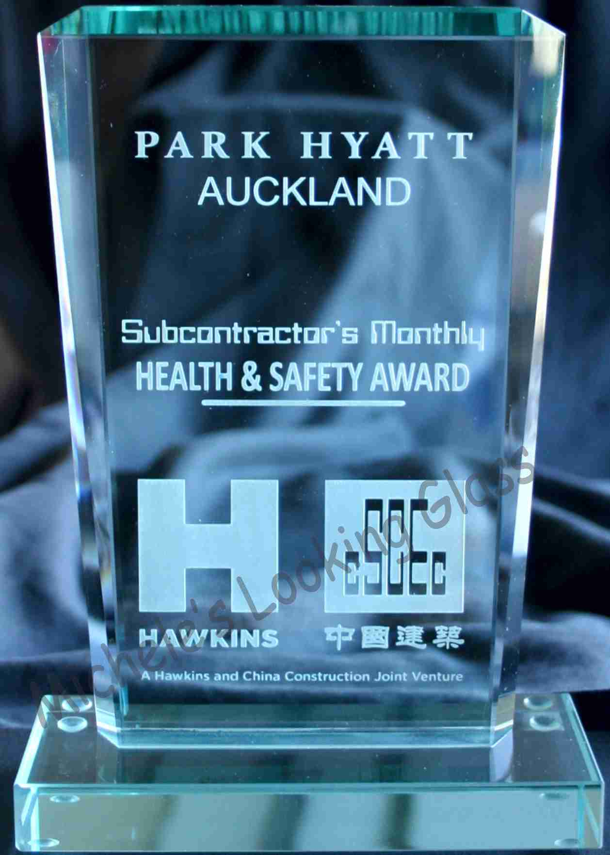Safety Award Glass Etching Improves Your Business S Image And Serves As A Marketing Tool