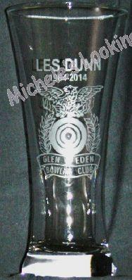 Logo on beer glass