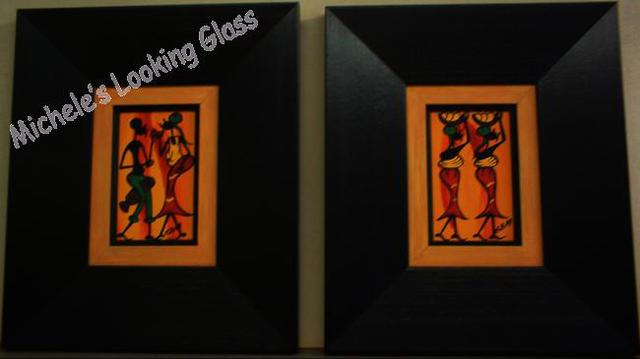 Three hand finished frames used on each painting