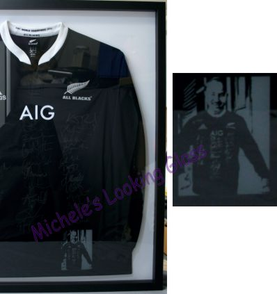 Framed Signed All Blacks Jersey
